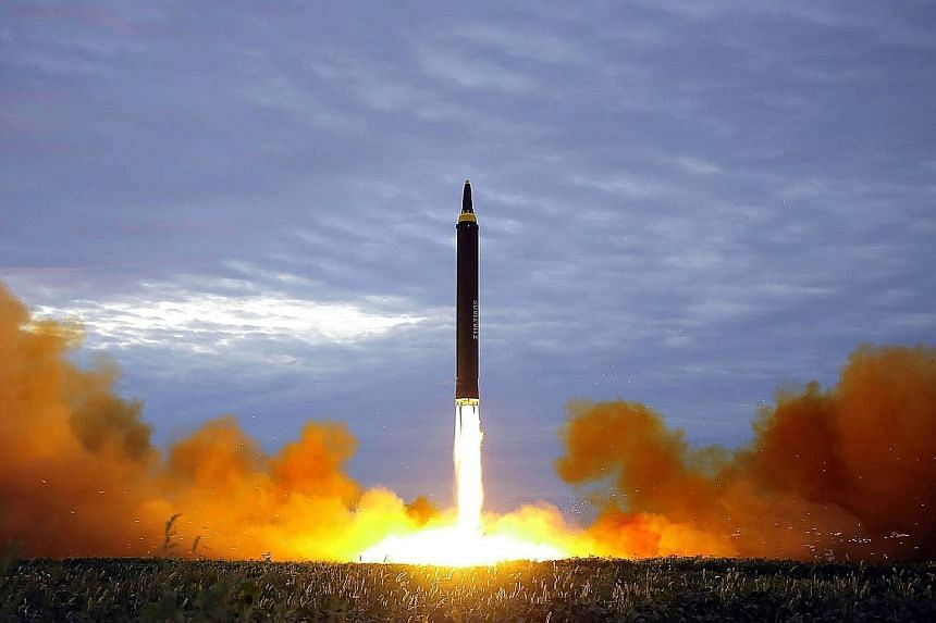 North Korea's Hwasong-12 rocket. The country's denuclearisation is a crucial factor in the upcoming Trump-Kim summit.