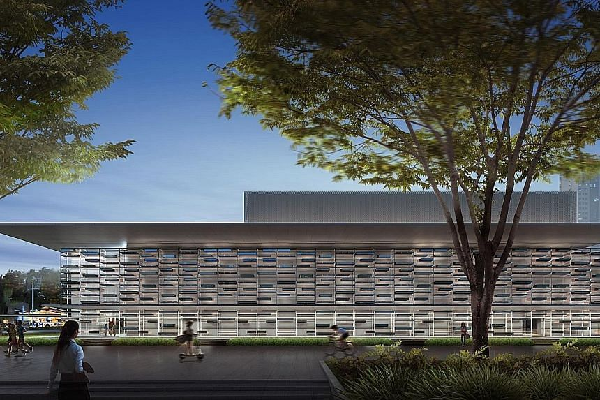 Artist's impression of Esplanade's first medium-sized theatre. Besides Singtel, funding for the $30 million waterfront development will also come from the Government, and through corporate sponsorship and public fund-raising by the Esplanade. Last ni