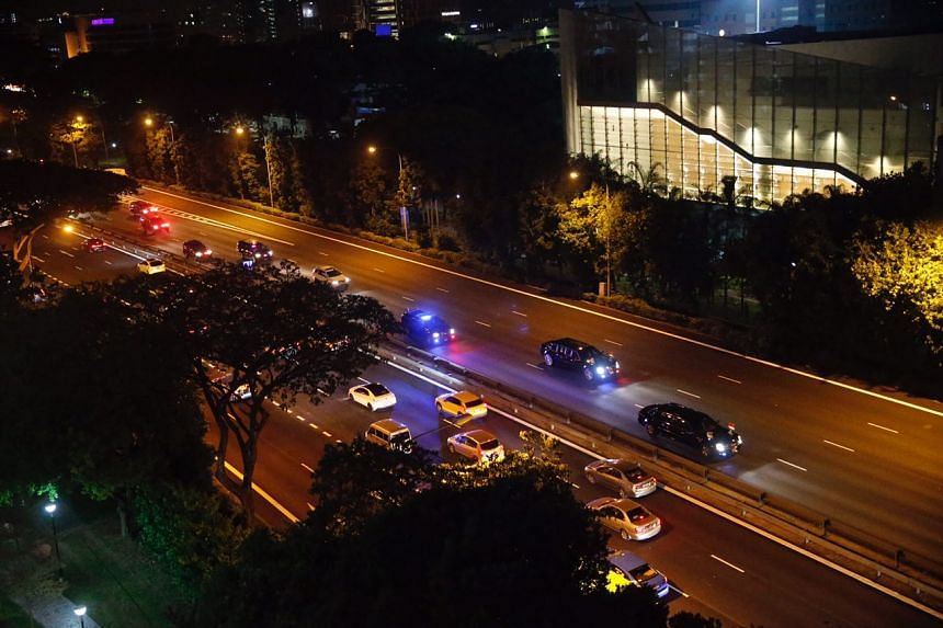 US President Donald Trump's motorcade made its way to the Shangri-La Hotel, on June 10, 2018.
