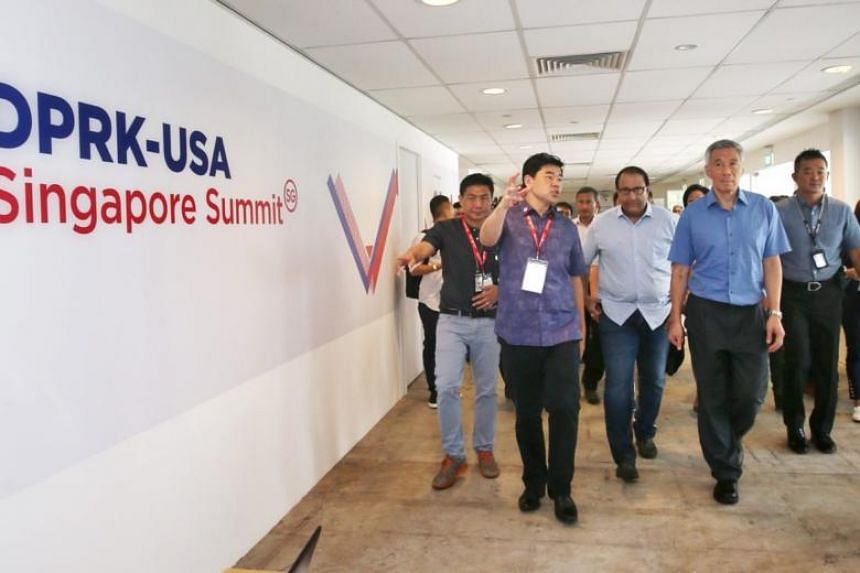 """PM Lee also said Singapore has """"made sure to see to the details and the big picture"""", citing how the Home Team has found Korean speakers among its ranks to help with summit preparations."""