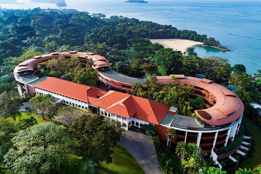 An aerial view of the Capella Hotel, the venue for the June 12 summit between US President Donald Trump and North Korean leader Kim Jong Un, at Sentosa in Singapore.