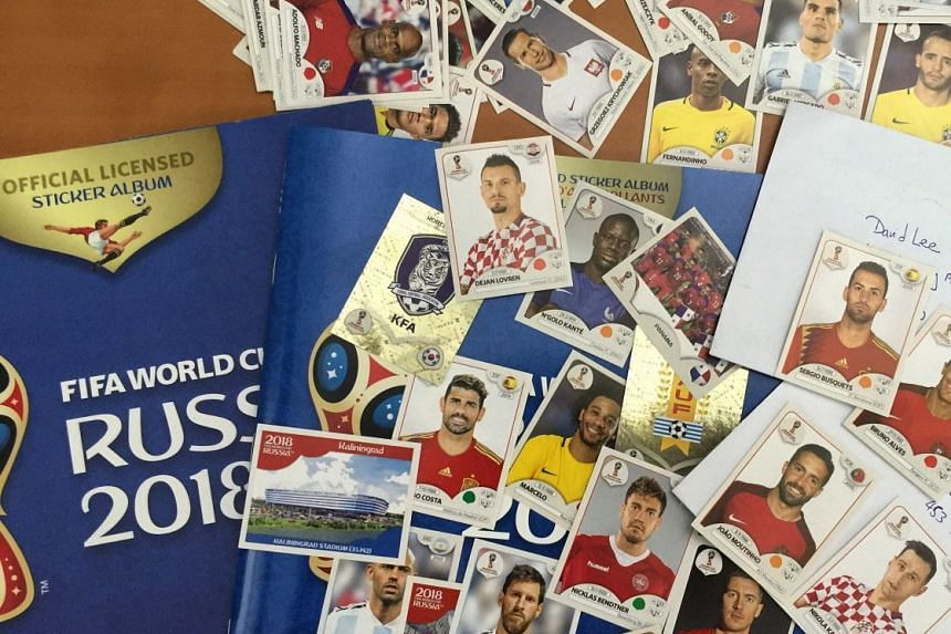David Lee needs six stickers to complete his Fifa World Cup Russia 2018 sticker album.