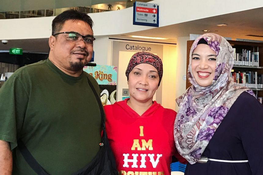 Madam Rahayu Rahmat and her husband Rosli Ismail, who set up Sinar Sofia in 2011, with Singaporean volunteer and influencer Atikah Amalina. The organisation in Johor Baru helps drug addicts, sex workers and others with HIV, providing them with medica