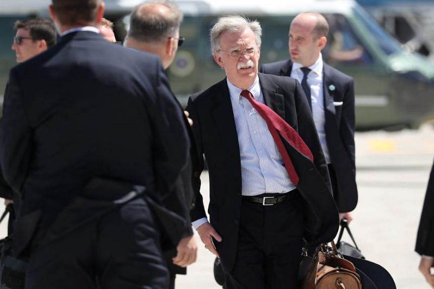 US President Donald Trump's national security adviser John Bolton was speculated to attend the unveiling ceremony at the American Institute of Taiwan.
