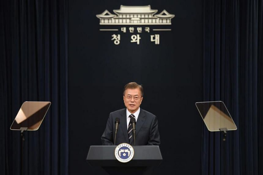 A deputy director for South Korea's President Moon Jae In (above) will attend the summit in Singapore, said the presidential office.