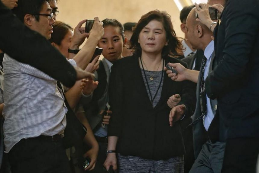 North Korean Vice-Foreign Minister Choe Son Hui leaving The Ritz-Carlton, Millenia Singapore hotel, on June 11, 2018.