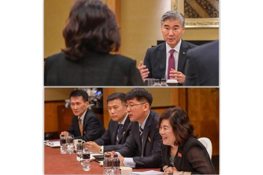 The working-level meeting is believed to be led by US ambassador to the Philippines Sung Kim (above) and North Korean Vice-Foreign Minister Choe Son Hui.