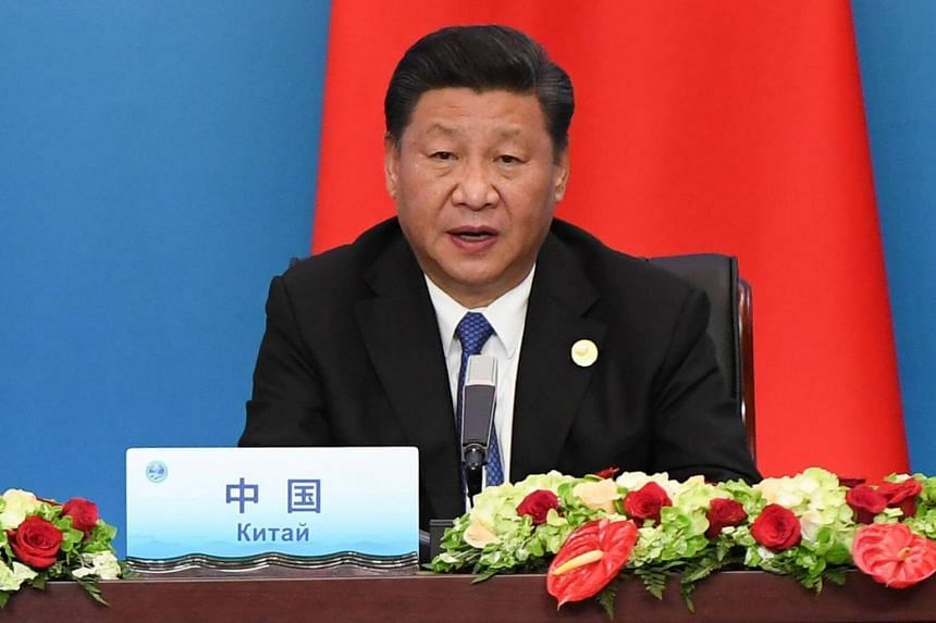 Chinese President Xi Jinping (pictured) met one-on-one with his Iranian counterpart Hassan Rouhani following a two-day regional security summit in the eastern Chinese city of Qingdao.