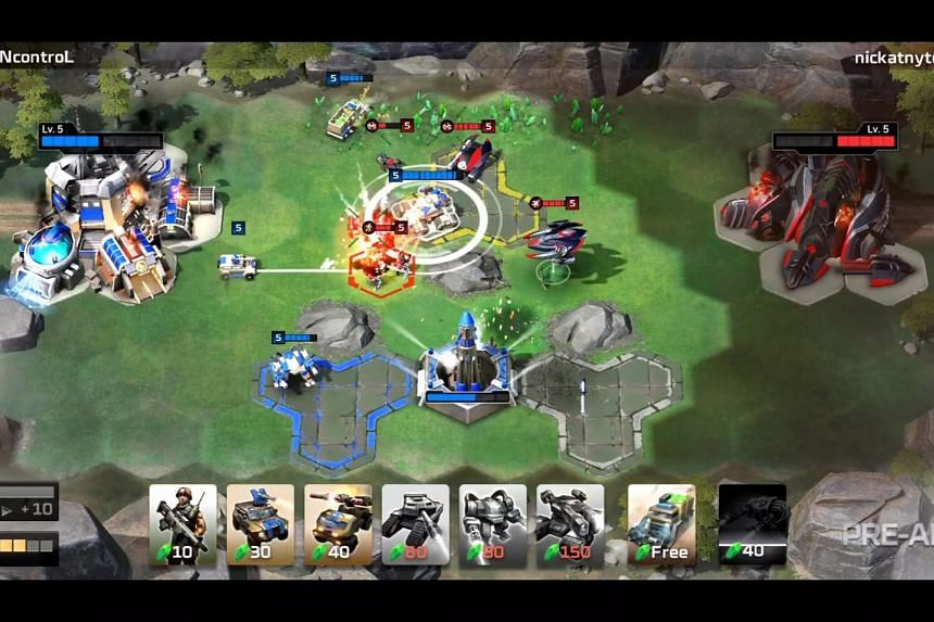 Screenshot showing off gameplay from Command & Conquer: Rivals announced by game publisher Electronic Arts on Saturday (June 9) ahead of the Electronic Entertainment Expo (E3) in Los Angeles. PHOTO: ELECTRONIC ARTS
