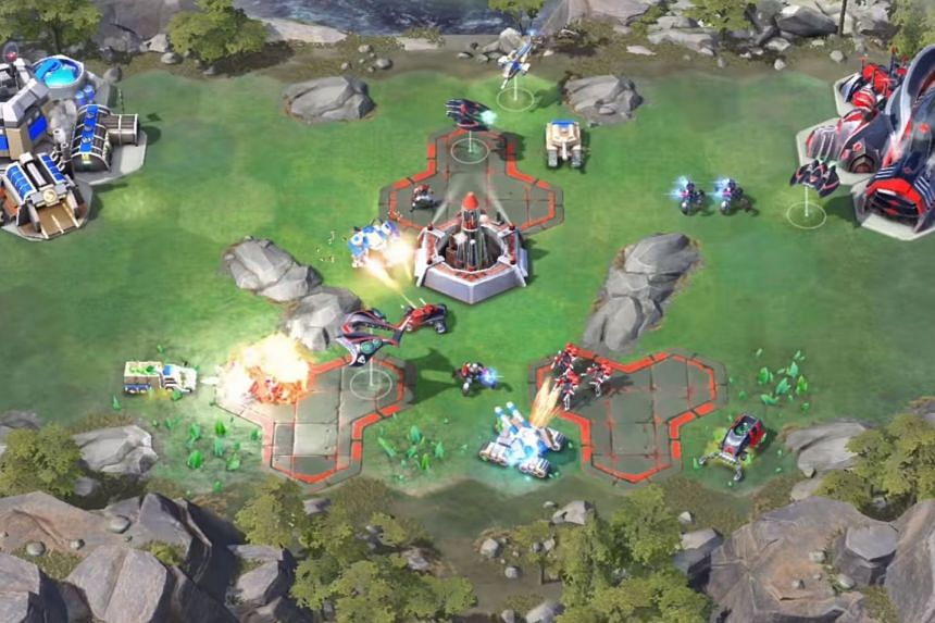 Gameplay screenshot of Command & Conquer: Rivals mobile game. PHOTO: ELECTRONIC ARTS