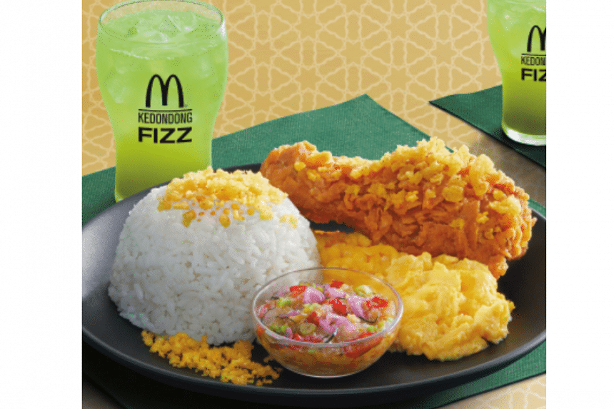 McDonald's Indonesia has started offering a new, limited-time item, ayam kremes sambal matah (fried chicken with crunchy bits and raw chili relish) .