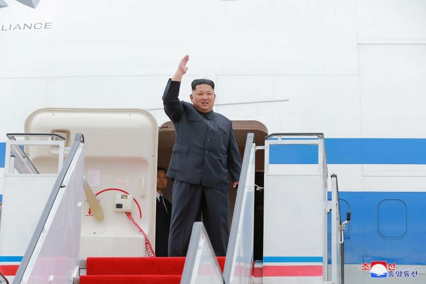 North Korean leader Kim Jong Un arriving in Singapore. He is set to tour the Republic's economic facilities on June 11, a day before his summit with US President Donald Trump.