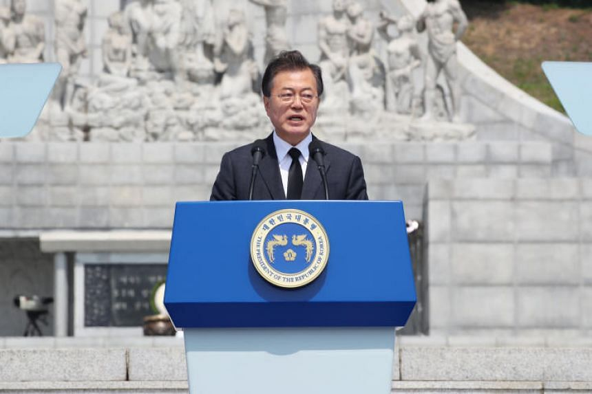 South Korean President Moon Jae In said in confidence that Singapore's Trump-Kim summit will be a success and the start of a years-long denuclearisation process for North Korea.