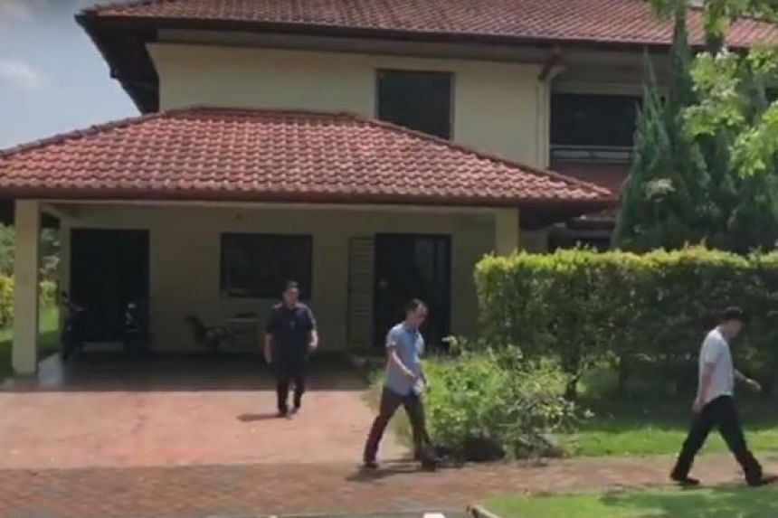 Officers from the Bukit Aman Commercial Crime department have been at the house since 1pm on June 11, 2018.