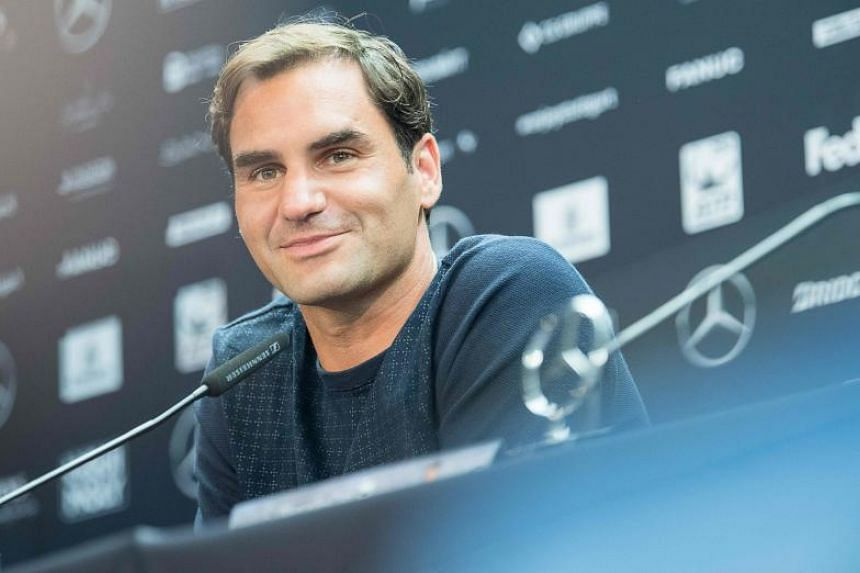 Switzerland's Roger Federer at a press conference prior to the ATP Cup tennis tournament in Stuttgart, southwestern Germany on June 11, 2018.