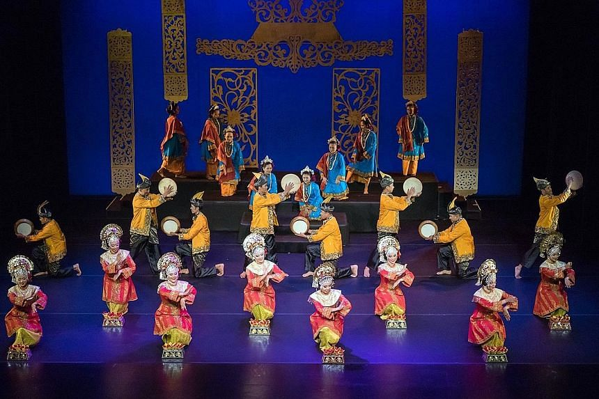 Performing arts ensemble Sriwana (above) will trace the history of Malay dance through music and movement.