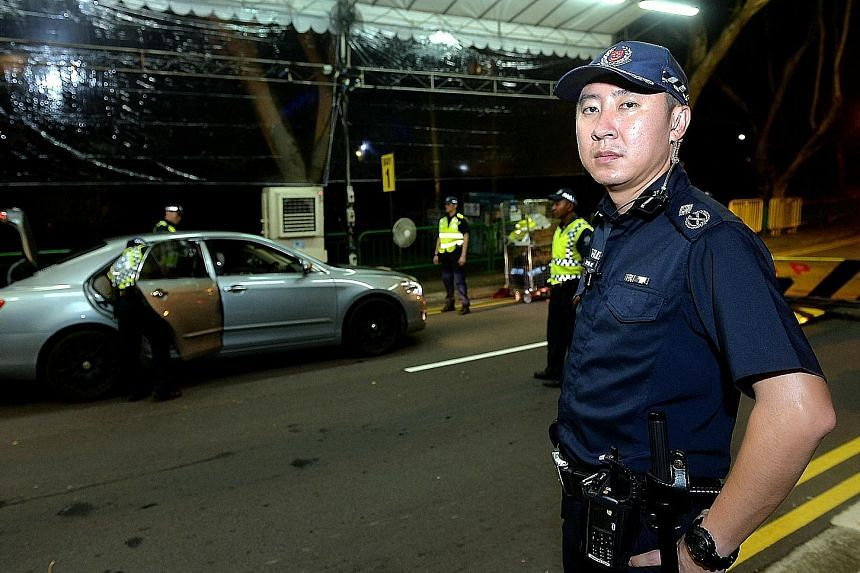 Assistant Commissioner of Police Tan Chia Han is in charge of security at the Shangri-La Hotel, where the US President is staying.