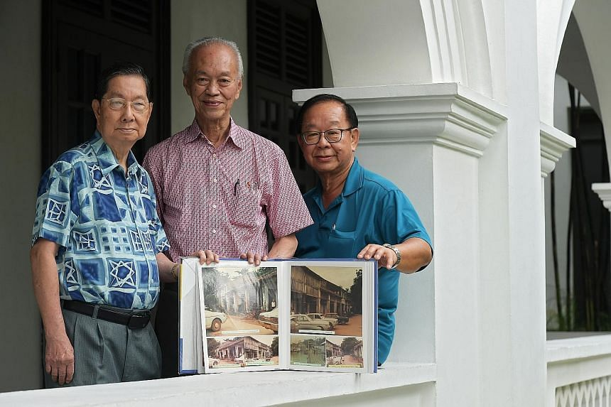 About 200 photos of the islands will be displayed at the talks and donated to the NHB. Sharing their stories and photos from when Tekong comprised two separate islands will be former residents (from left) Ho Kim Hong, Loo Geuang Fiyau and his brother