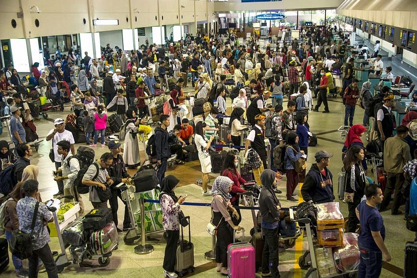 19.5million: Travellers who will be using public transport – buses, trains, ferries, ships and airplanes – for their homebound trips, according to estimates from Indonesia's Transportation Ministry, 5.2 per cent higher than last year,