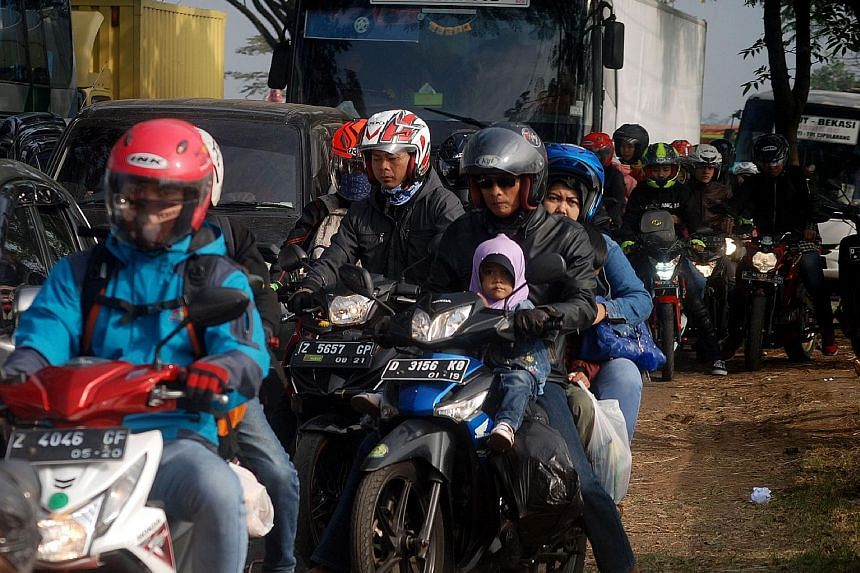 12.24 million: Private vehicles, comprising motorcycles and cars, are expected to hit the road. The biggest surge will be in Java, where more than half the Indonesian population lives.