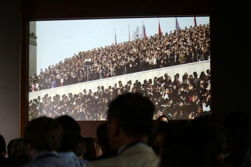 "The video had opening credits with the phrase ""A Destiny Pictures production"" and portrayed North Korean leader Kim Jong Un and US President Donald Trump as the main stars."
