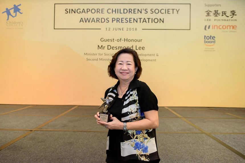 Mrs Joanna Ang, 63, won the Platinum Service Award given to outstanding volunteers who have served the Children's Society for at least 15 years.