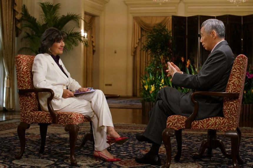 Prime Minister Lee Hsien Loong in an interview with CNN's Chief International Correspondent Christiane Amanpour on June 11, 2018.