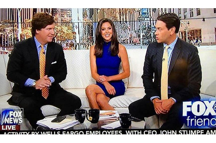 Host Abby Huntsman (centre) of Fox & Friends apologised later on the show, acknowledging her mistake.