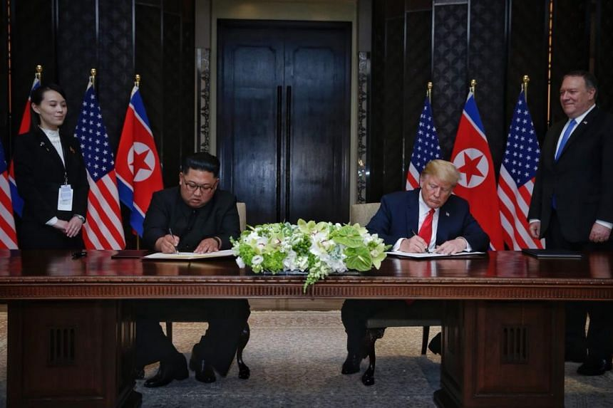 """US President Donald Trump and North Korean leader Kim Jong Un said the signing of the """"comprehensive"""" document is a significant achievement."""