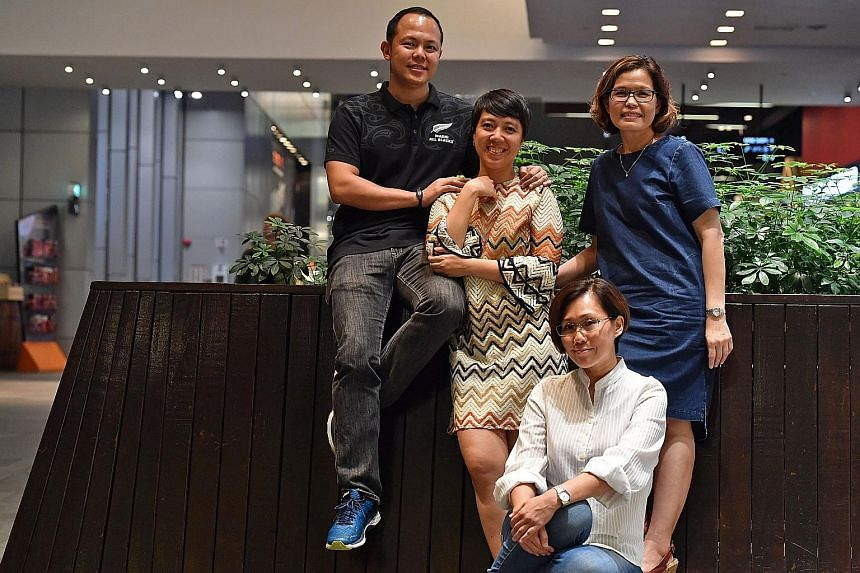 From left: Orphanage co-founders Chandra Setiadji, Monalisa Chan, Nicole Ng (seated) and Sheela Zee all have full-time jobs in Singapore but were determined to set up the orphanage. They make the trip to Batam weekly to visit the children, give them