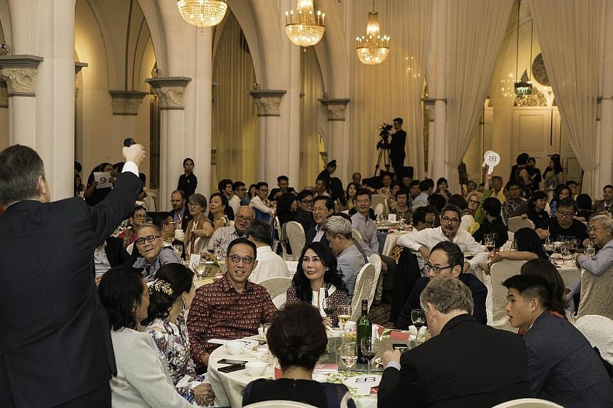 The Private Museum's inaugural gala dinner, attended by some 200 guests, included a private auction which sold off works by late Singapore artist Anthony Poon and five other established artists.