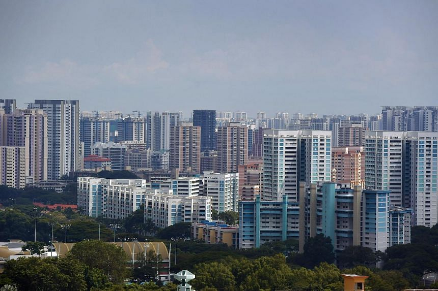 A view of Housing Board blocks and private houses in Toa Payoh.