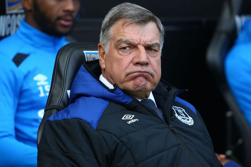 Everton's English manager Sam Allardyce at The Liberty Stadium in Swansea, south Wales, on April 14, 2018.