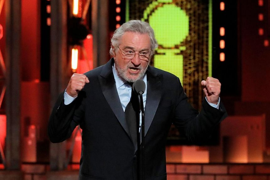 Actor Robert De Niro speaks during the 72nd Annual Tony Awards in New York.