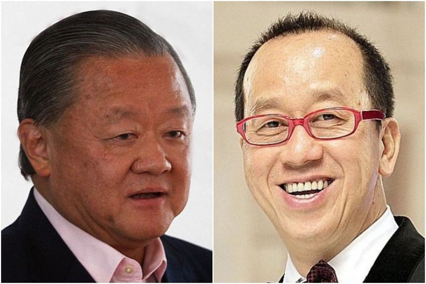 """Mr Chew Hua Seng (right) says he and Mr Oei Hong Leong had only a """"friendly agreement"""" on share sale."""