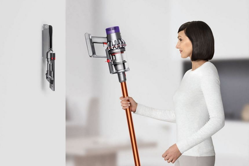 The suction power of Dyson's V10 Absolute cordless vacuum cleaners has improved by 20 per cent, thanks to a new straight-line airflow design.
