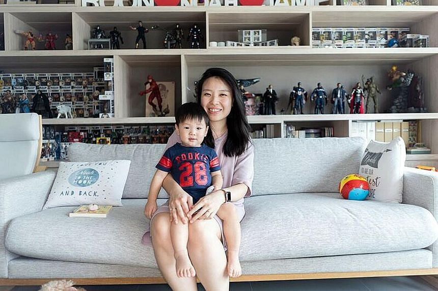 Ms Dawn Wang (her son Laurent turns four next month) got positive feedback after sharing her experience of a miscarriage on Instagram. Ms Jamie Lee, seen here with 14-month-old son Noah, feels that the nature of social media is such that everything i