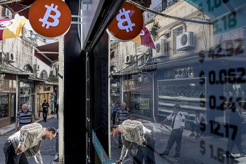 An official bitcoin exchange office at the Grand Bazaar in Istanbul, Turkey. So far this year, bitcoin is down nearly 53 per cent.