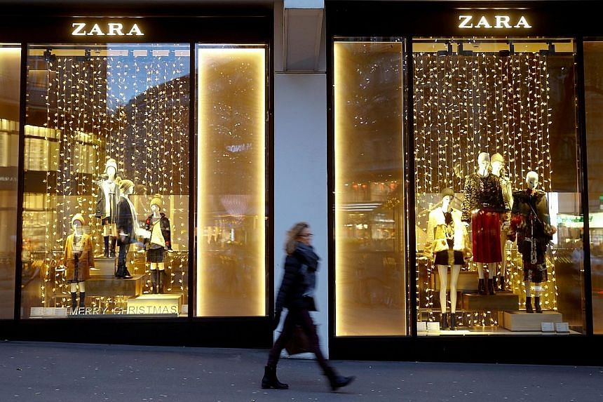 First-quarter earnings before interest, tax, depreciation and amortisation were €1.13 billion (S$1.8 billion) for Zara owner Inditex, in line with analysts' expectations.