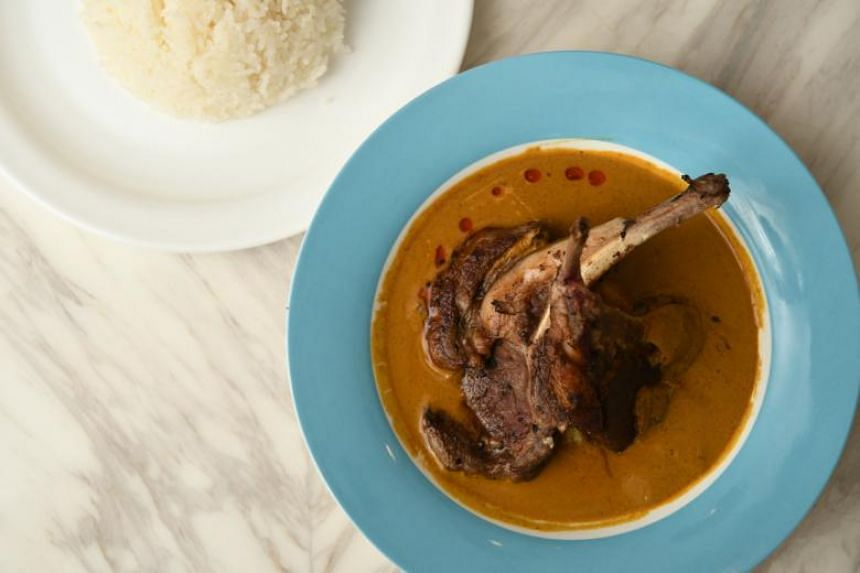 Lamb chop curry with steamed rice ($29).
