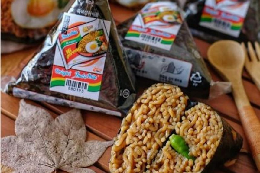 The creative take on the popular instant noodles is available at Indonesia's convenience store chain K3 Mart.