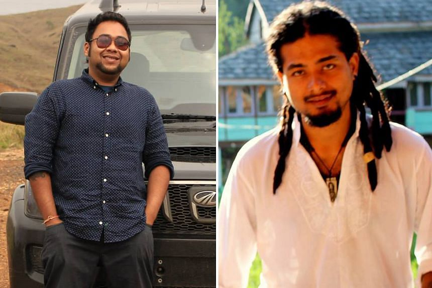 Mr Abhijeet Nath (left) and Mr Nilotpal Das, who were in an Assam district to look for rare fish and to record nature sounds respectively, were beaten to death last week by a vigilante mob.