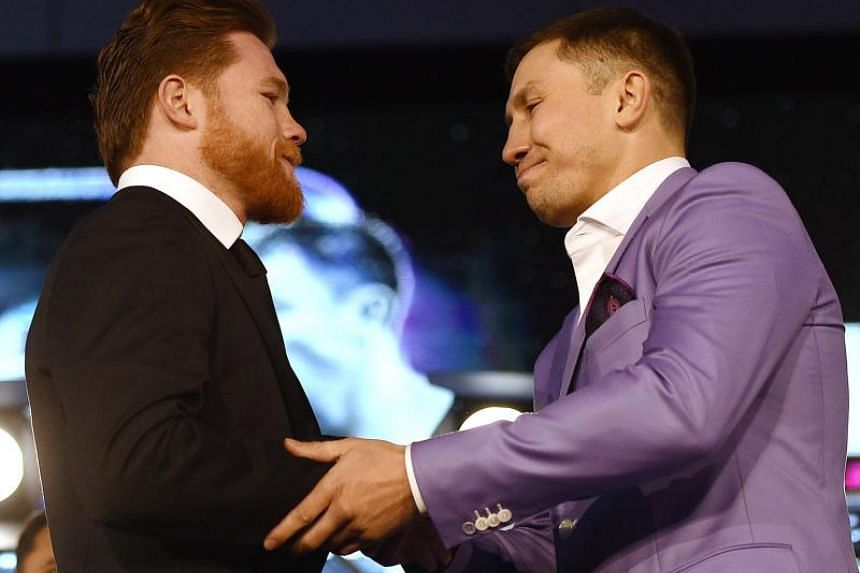 Canelo Alvarez (left) and Gennady Golovkin (right) had been due to fight each other on May 5, 2018, before the middleweight bout was cancelled after Alvarez failed two drug tests.