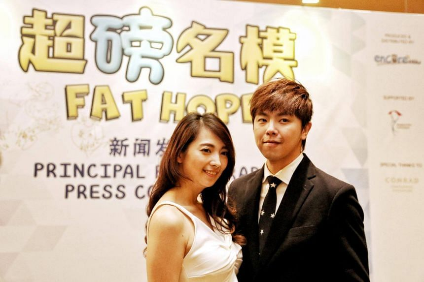 Taiwanese actors Alien Huang (right) and Lin Yu Pin, who will be starring in Encore Films' second local production Fat Hope.