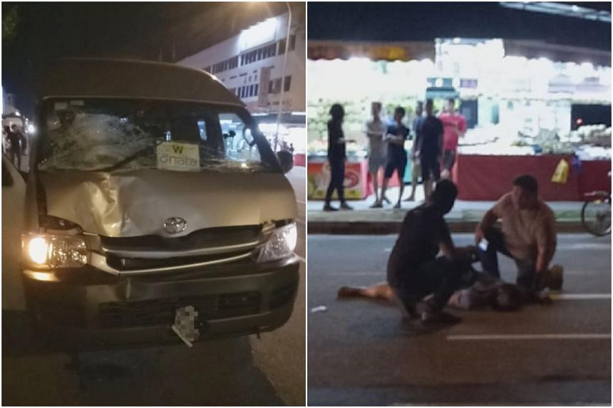 Police were alerted to the accident between the minibus and a pedestrian at about 1.50am. The pedestrian was unconscious when taken to Tan Tock Seng Hospital, where he later died from his injuries.