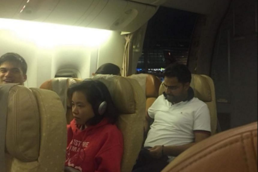 A passenger on flight SQ247 told The Straits Times that he heard a bang as the plane was taxiing for take-off.
