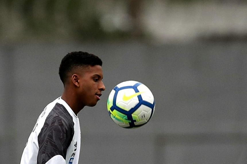 Forward Rodrygo Goes made his debut for Santos last November, at the age of 16, and has scored five goals in nine league appearances for the club in the Brazilian top-flight.