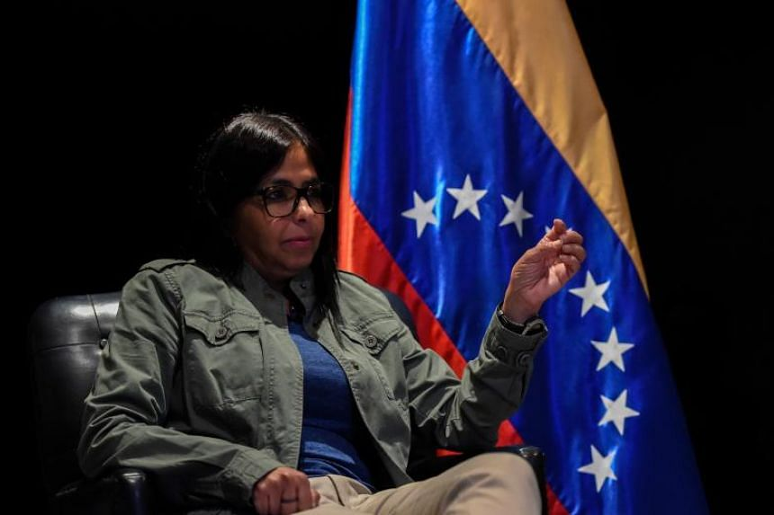 Venezuela's former Foreign Minister Delcy Rodriguez in Caracas on July 30, 2017.