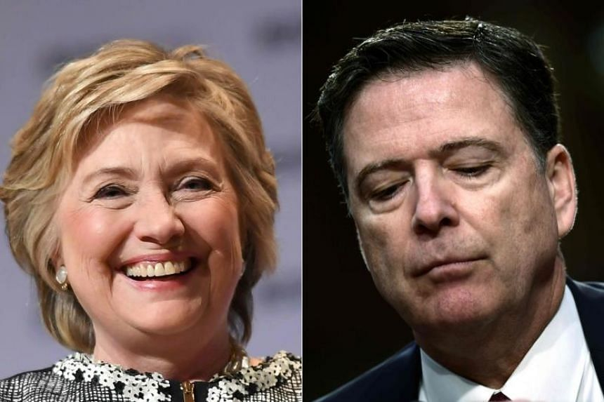 """A Justice Department report called former FBI director James Comey (right) """"insubordinate"""" in his handling of the investigation into Hillary Clinton in 2016."""