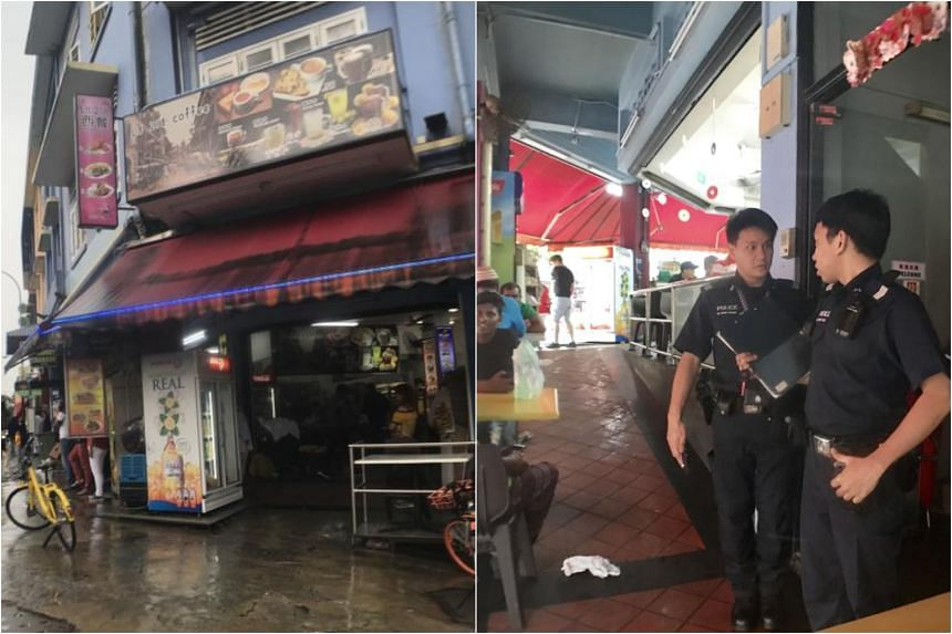 The police were alerted to the fight at 218 Geylang Road at about 7.50am.